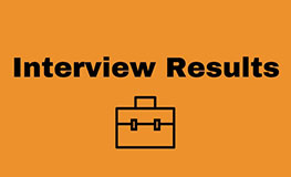 Interview Results - Senior Staff Officer sumamry image