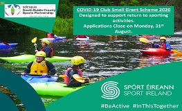 South Dublin County Sports Partnership COVID-19 Club Small Grant Scheme sumamry image