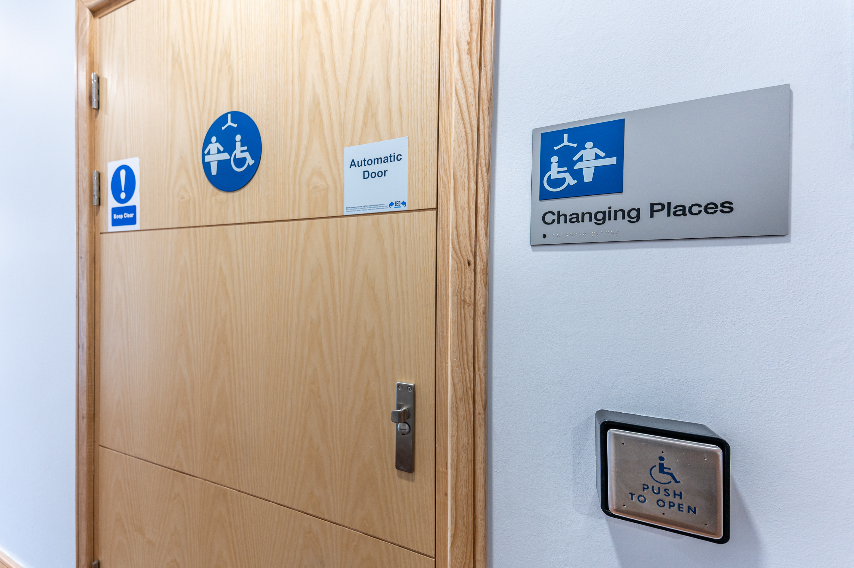 Entrance to County Hall Changing Places toilet facility